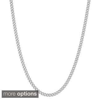 Gioelli Sterling Silver 1.7 mm Curb Chain Necklace