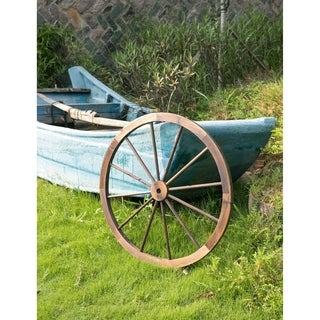 Decorative Antique Brown 35-inch Wagon Garden Wheel