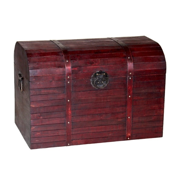 Antique Finished Barn Wood Trunk