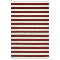 Handmade Indoor/ Outdoor Getaway Red Stripes Rug - 9' x 12'