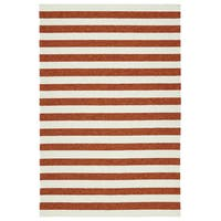 Handmade Indoor/ Outdoor Getaway Paprika Stripes Rug - 9' x 12'