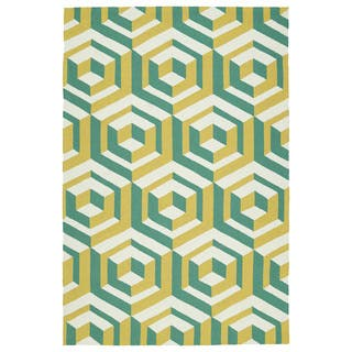 Handmade Indoor/ Outdoor Getaway Gold Geometric Rug (9' x 12')|https://ak1.ostkcdn.com/images/products/10088718/P17231174.jpg?impolicy=medium