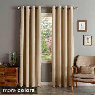 Aurora Home Silver Grommet Top Thermal Insulated 120-inch Blackout Curtain Panel Pair