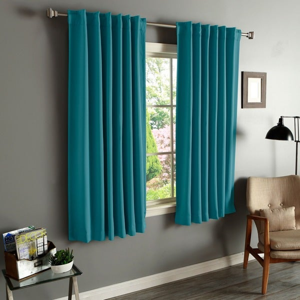 Shop Aurora Home Solid Insulated Thermal Blackout Curtain