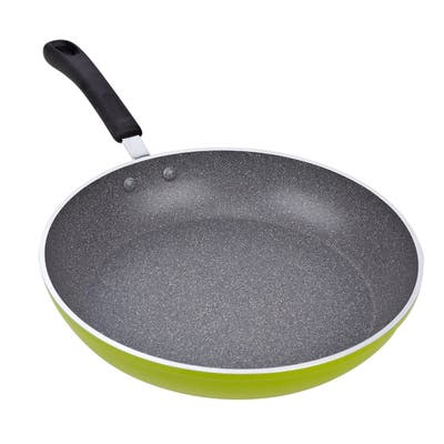 Cook N Home 12-Inch Nonstick Fry and Saute Pan, Green, Induction Compatible