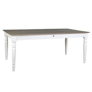 Paulina Casual White Rectangle Dining Table