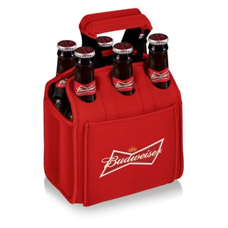 Picnic Time Six Pack Red Neoprene Budweiser Digital Print Bottle Holder