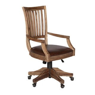 Magnussen H2596 Adler Desk Chair with Upholstered Seat and Wood Back
