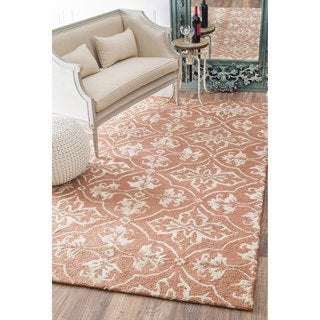 nuLOOM Handmade Contemporary Wool/ Silk Rug (5' x 8')