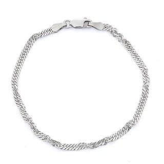 Gioelli Sterling Silver Disco Chain Bracelet