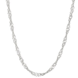 Gioelli Sterling Silver Disco 2.25mm Chain Necklace