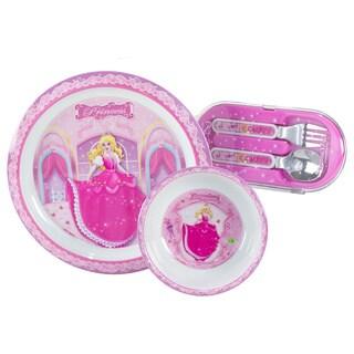 Pecoware 5-piece Pink Princess Dinnerware Set