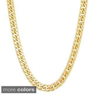 Gioelli Sterling Silver Double Curb 4.75mm Chain Necklace