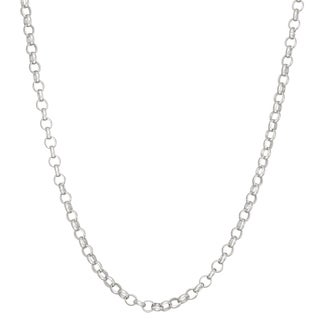 Gioelli Sterling Silver Rolo 1.9mm Chain Necklace