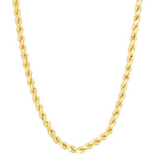 Gioelli Sterling Silver 2.4mm Rope Chain Necklace