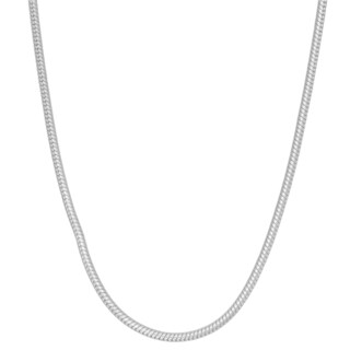 Gioelli Sterling Round Snake Chain Necklace