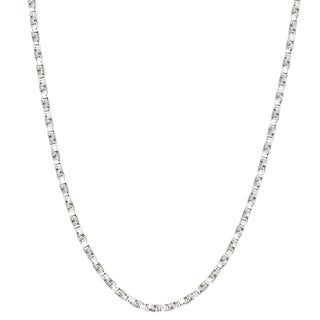 Gioelli Sterling Silver Twisted 1.25mm Box Chain Necklace