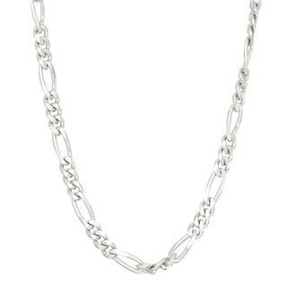Gioelli Sterling Silver Figaro 3.6mm Chain Necklace