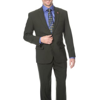 Ferretti Men's Slim Olive Wool Suit