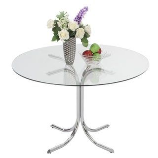 Somette Cayla X-Shape Chrome Dining Table