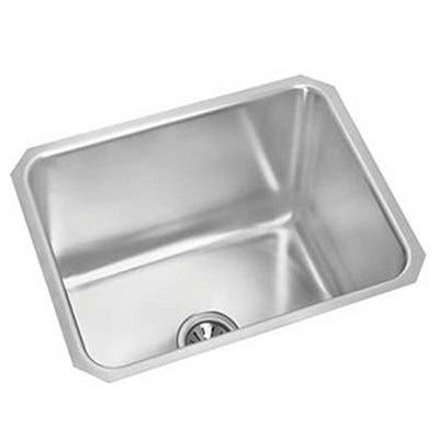 "Elkay Lustertone Stainless Steel 20-1/2"" x 16-1/2"" x 7-7/8"", Single Bowl Undermount Sink with Perfect Drain"