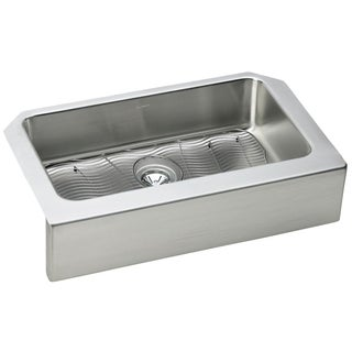 Elkay Gourmet Farmhouse Stainless Steel ELUHFS2816DBG Kitchen Sink