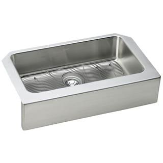 Elkay Gourmet Farmhouse Stainless Steel ELUHFS2816DBG Kitchen Sink