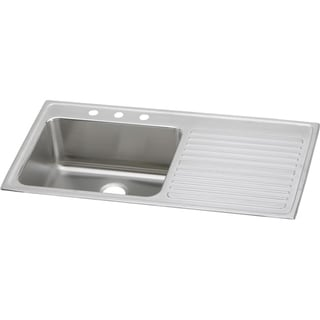 Elkay Gourmet Drop In/Self Rimming Stainless Steel 22.00 43.00 ILGR4322L4 Lustertone Kitchen Sink