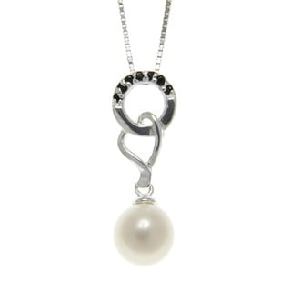 Freshwater Pearl and Spinel Interlocking Necklace (7-8 mm)