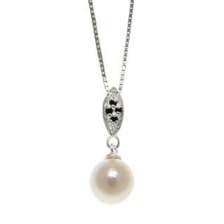 Freshwater Pearl and Spinel Imperial Necklace (7-8 mm)