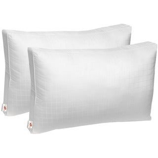 Swiss Comforts 300 TC Soft Cotton Down Alternative Sleeping Bed Pillow with 2-inch Gusset - White