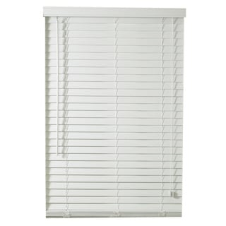 Lewis Hyman Traditional White Faux Wood Plantation Blinds with 2-inch Slats