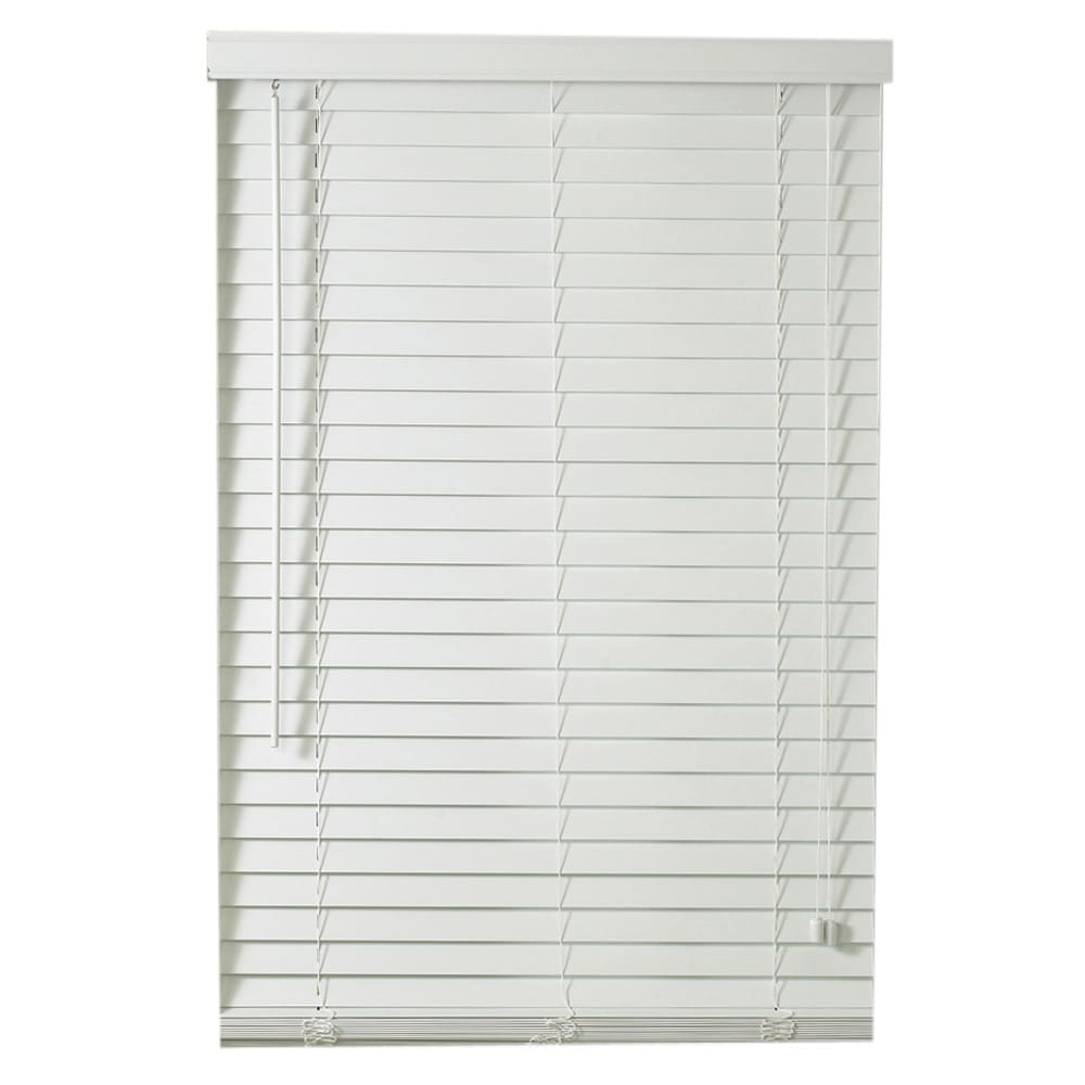 Lewis Hyman Traditional White Faux Wood Plantation Blinds...