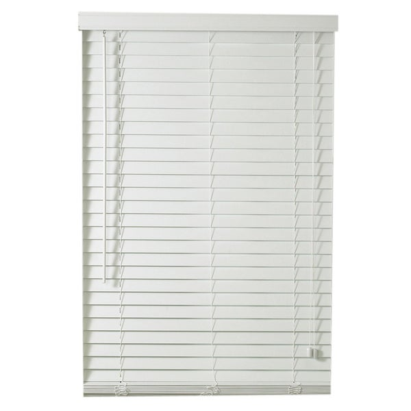 Lewis Hyman Traditional White Faux Wood Plantation Blinds With 2 Inch Slats Free Shipping