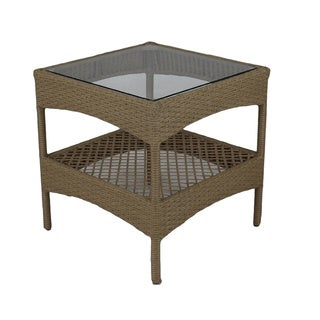 Somette Sierra Outdoor Glass End Table