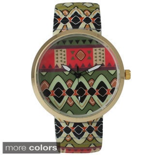 Olivia Pratt Women's Tribal Stretchy Band Watch