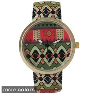 Olivia Pratt Women's Tribal Stretchy Band Watch