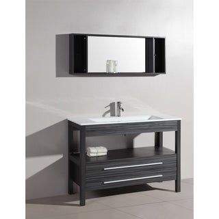 Bosconi A-5243 48-inch Contemporary Single Grey Vanity with Mirror