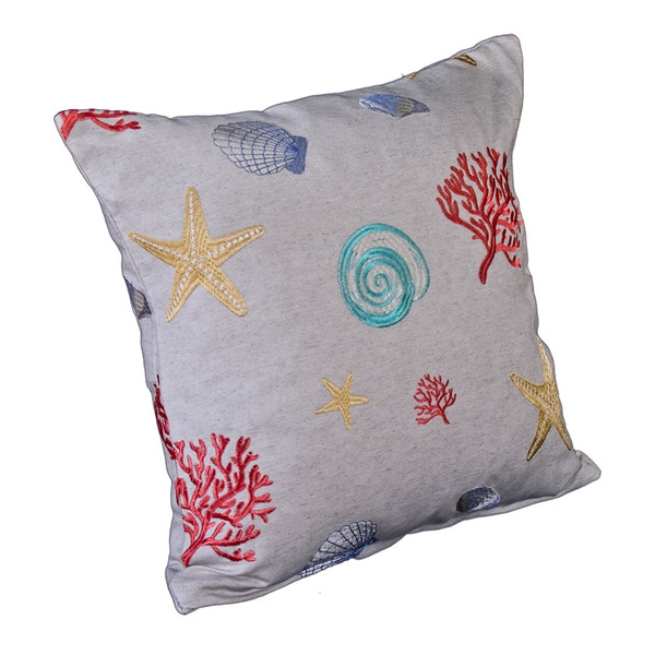 Siscovers Coral Reef Tropical Throw Pillow