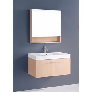 36-inch Bosconi A-5006 Contemporary Single Oak Vanity