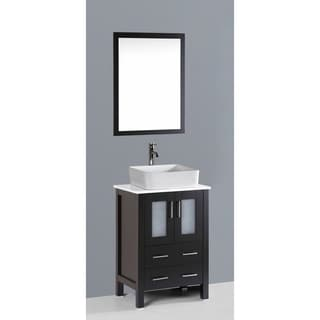 Bosconi AB124RC 24-inch Single Black Vanity