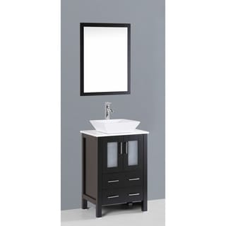 Bosconi AB124S 24-inch Single Black Vanity
