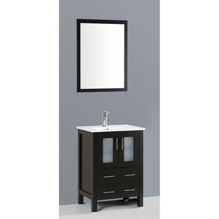 Bosconi AB124U 24-inch Single Black Vanity