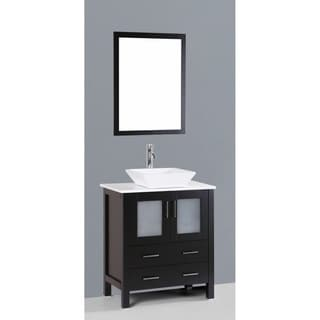 Bosconi AB130S 30-inch Single Black Vanity
