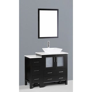 Bosconi AB130S1S 42-inch Single Black Vanity