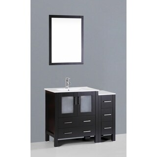42-inch Bosconi AB130U1S Single White, Black Vanity