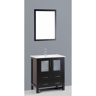Bosconi AB130U 30-inch Single Black Vanity