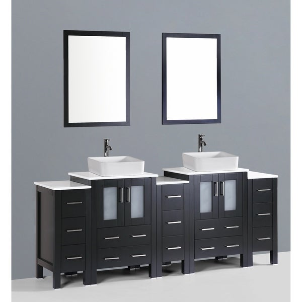 "84"" Bosconi AB224RC3S Double Vanity"