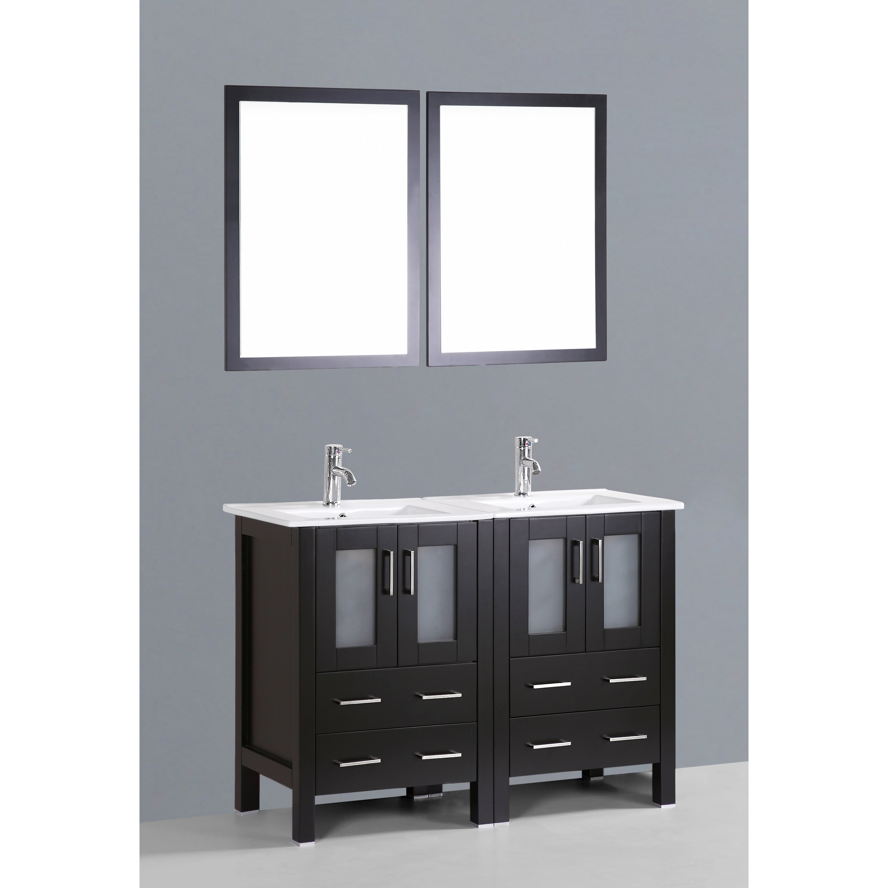 Bosconi ab224u 48 inch double vanity with mirrors and faucets