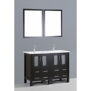 Bosconi AB224U 48-inch Double Vanity with Mirrors and Faucets